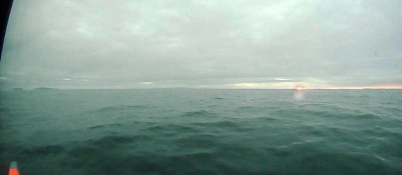 Sailing drone captures dawn while crossing the Bering Strait