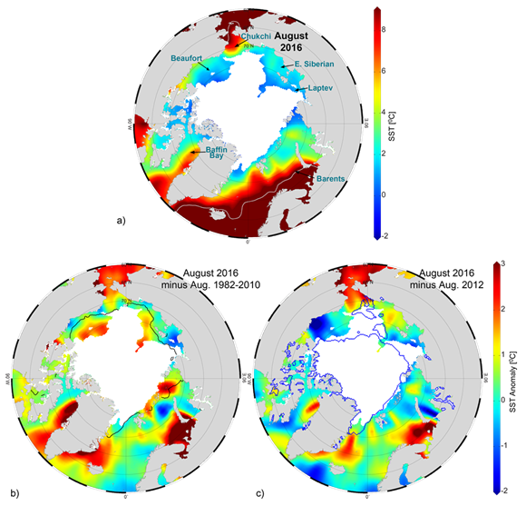 Mean sea surface temperatures and SST anomalies